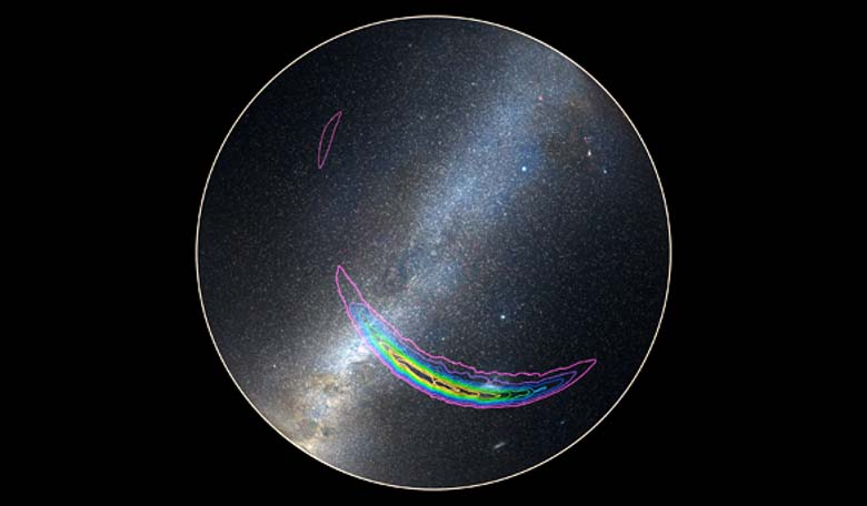 A SkyMap map showing the location of the GW150914 gravitational wave detection signal. Image credit: Caltech/R. Hurt