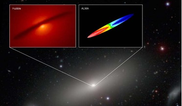 ALMA, black hole mass, carbon monoxide in gas discs, NGC 1332, supermassive black hole
