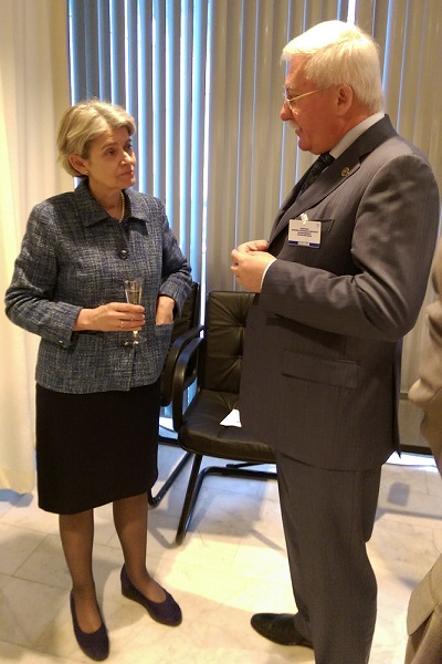 UNESCO Director General Irina Bokova and Igor Ashurbeyli