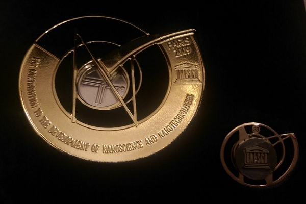 Gold Medal UNESCO For contribution to the development of nanoscience and nanotechnologies