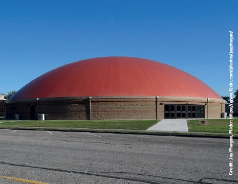 Eagle Dome in Woodsboro, Texas is a hurricane refuge as well as a sports arena - it can survive winds in excess of 200mph