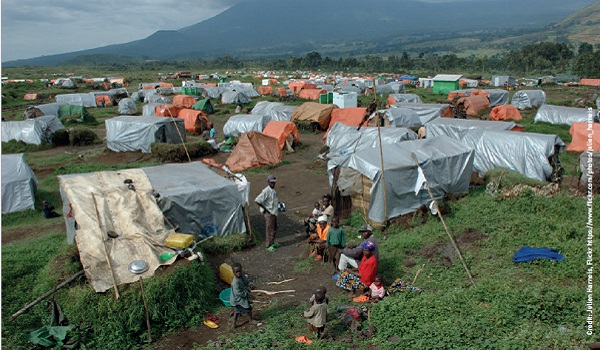 Management of camps for displaced persons, like Kibumba in the Democratic Republic of Congo, would be possible with the advanced notice afforded by an asteroid impact