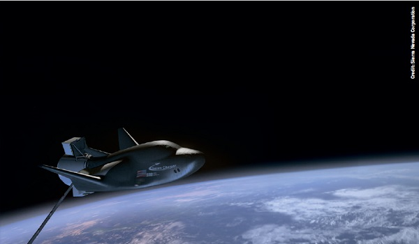 Sierra Nevada Corporation's uncrewed Dream Chaser spacecraft in orbit.