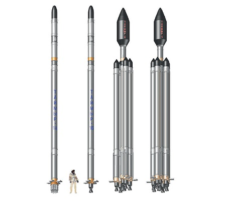The Taimyr family of rockets (L-R: Taimyr-1A and Taimyr-1B, Taimyr-5, Taimyr-7) could slash waiting times for satellite launches to three months.