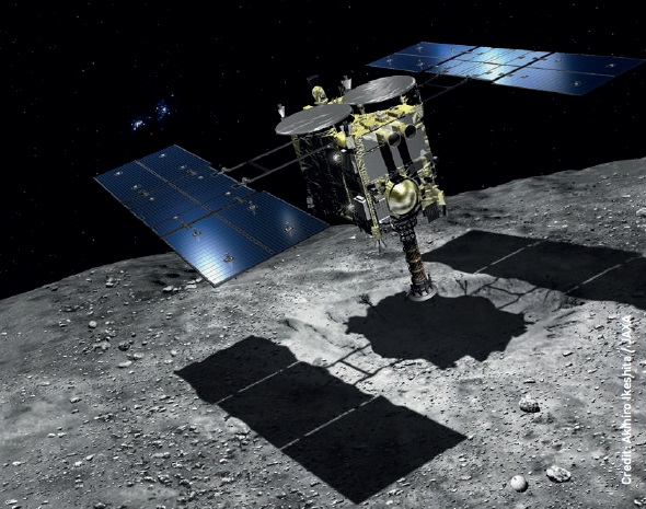 Hayabusa-2 is on its way to a C-type asteroid, which is believed to contain water and organic matter