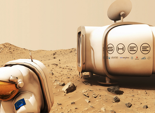 Artist's impression of SHEE deployed on the surface of Mars