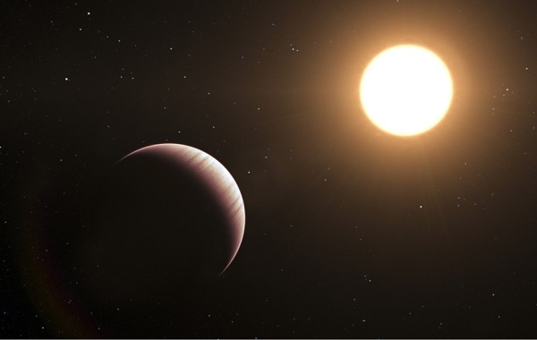Artist's impression of a 'Hot Jupiter'