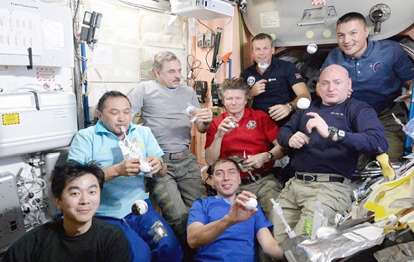 A big thank you to Thorsten Schmidt for a special Danish space dinner from the complete ISS crew - and a space rock surprise!