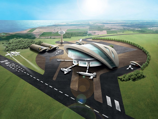 Impression of a potential UK spaceport