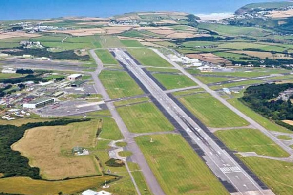 Newquay Airport in Cornwall