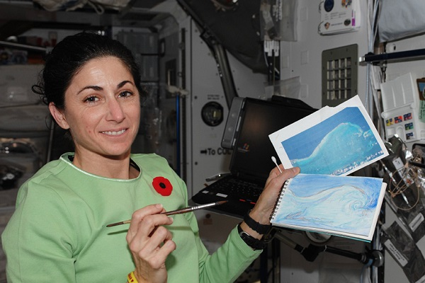The first painting on ISS during Expedition 21 in October 2009.
