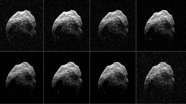 Radar image of near-Earth asteroid