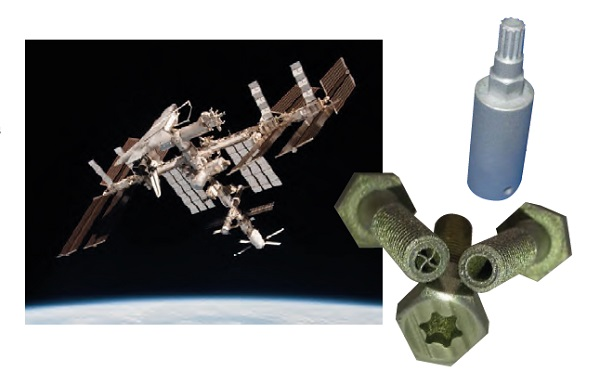 The use of 3D printing can be significantly beneficial for manufacturing onboard the ISS where failed parts can be reproduced without the need of a large spare parts stock, and ondemand tools can be manufactured in order to fulfil unplanned needs for fixing malfunctioning units