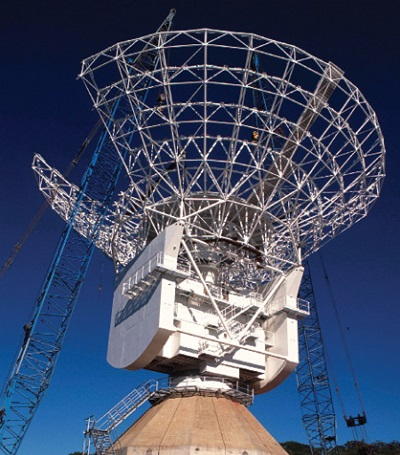 New Norcia antenna during construction