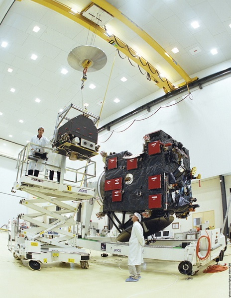 Rosetta and Philae being prepared for launch