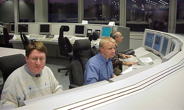 Rosetta Dedicated Control Room in 2001