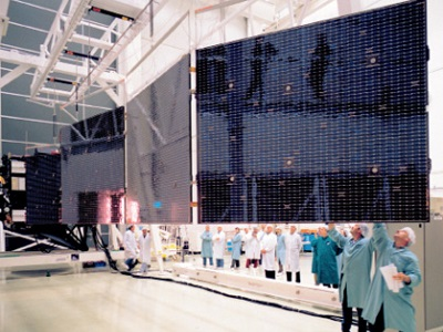 Rosetta large solar panels deployment test