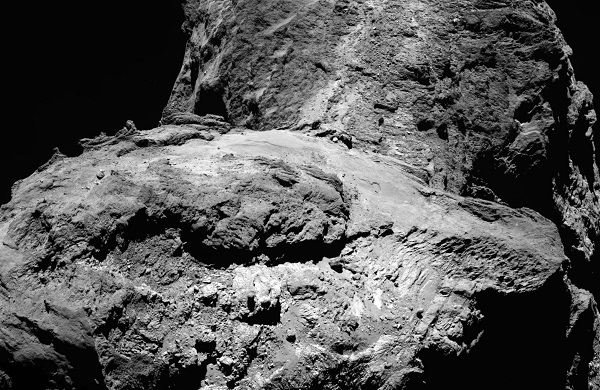OSIRIS narrow-angle camera image taken on 23 January 2016 when Rosetta was 75.1 km from Comet 67P/Churyumov- Gerasimenko (the scale is 1.37 m/pixel)