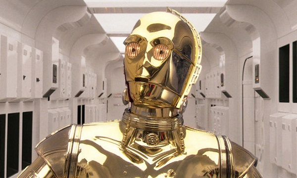 Robot C3PO from the film Star Wars